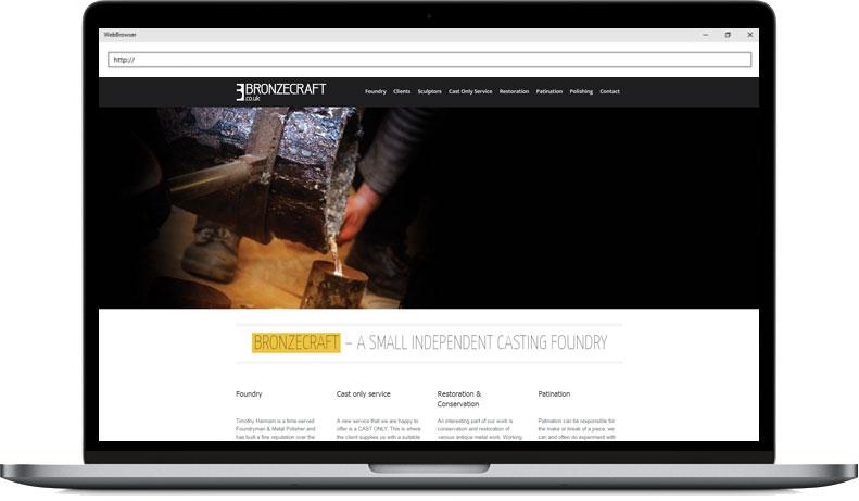 Bronzecraft Web Rebuild Example