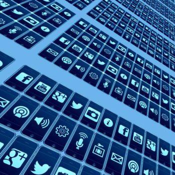 Social Media Icon Matrix