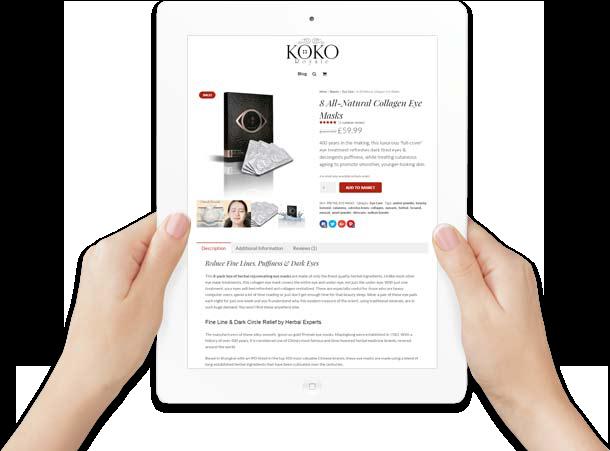 ipad e-commerce web site design in hand
